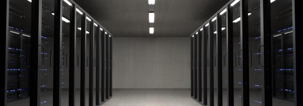 Server room for hosting websites